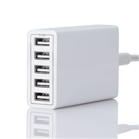 OEM/ODM AF-04005A 40W 5-USB Adapter Charger For Apple Android Cell Phone Laptop Bluetooth Device